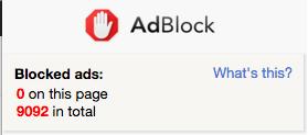 Ad block stats